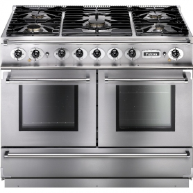 Falcon 79510 Continental 1092 110cm Duel Fuel Stainless Steel/Chrome Trim Rangecooker