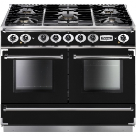 Falcon 79520 Continental 1092 110cm Duel Fuel Black/Chrome Trim Rangecooker