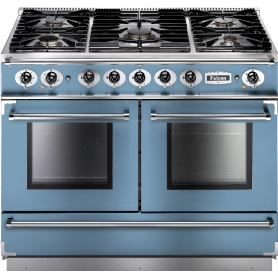 Falcon 79540 Continental 1092 110cm Duel Fuel China Blue/Nikel Trim Rangecooker