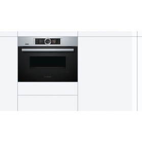 Bosch CNG6764S6B, Brushed Steel Built-In Multifunction Microwave Oven With Added Steam - 1