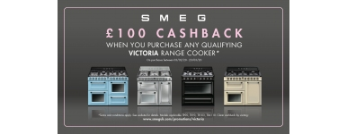 Smeg 100 Cashback on Range Cookers